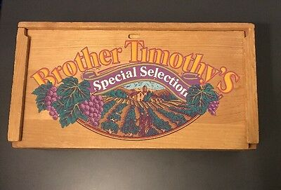 Vintage Christian Brothers SELECT NAPA VALLEY WINES Wood Box With Sliding Lid.