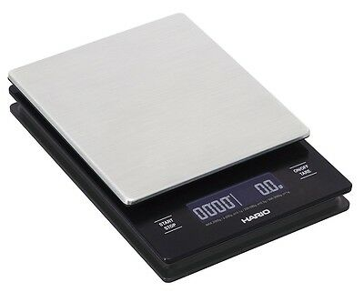 New HARIO V60 Metal Coffee Drip Scale VSTM-2000HSV Hairline Silver With Tracking