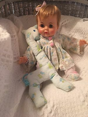 Vintage Antique Ideal SNOOZIE YTT-14-E  DOLL Original Outfit Works