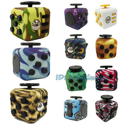 Children Girls Boys Fidget Cube Desk Toys Anxiety Adults Anti Stress Relief ADHD