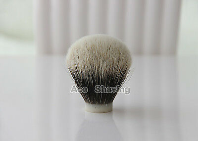 2 Band Finest Badger Hair Shaving Brush Head Knot Size 24mm Total height 64mm
