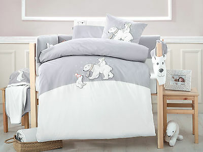 Winter - Cot set 6-pcs made from 100% Turkish Cotton -Grey