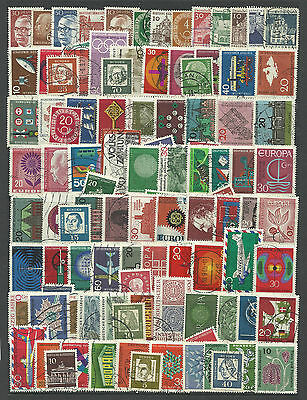 WEST GERMANY STAMP COLLECTION PACKET 100 DIFFERENT Mostly Used NICE SELECTION