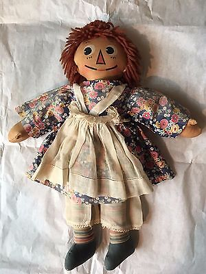 Vintage Antique RARE Original 1930's Molly-es Raggedy Ann Doll Complete Outfit
