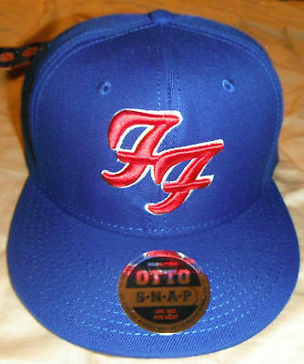 2015 Foo Fighters Chicago Cubs Otto Flatbill Snap Baseball Cap Hat Ltd Ed Bonus