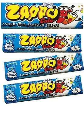 Bulk Lollies 9 x ZAPPO CHEWS COLA Party Favors Candy Buffet Wrapped Sweets