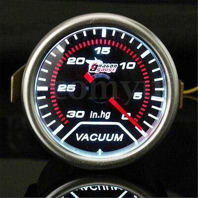 2'' 52Mm Universal Car Auto Led Vacuum Motor Gauge 30 - 0 In.hg Meter