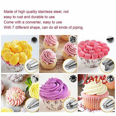 8pcs/set Decorating Mouth Pastry Tips Nozzle Cake Cookies Tools DIY Baking AU