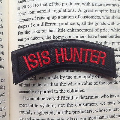 Isis Hunter Tactical Military Usa Army Isaf Morale Badge Swat Patch