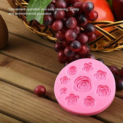 3D Silicone Rose Flowers Mold Fondant Cake Mold DIY Chocolate Baking Tool AU