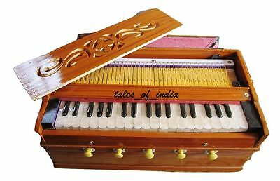 Basic Pine Wood Harmonium For Music Learners~ 5 Stopper~ 3 Octave~ 1 Fold Bellow