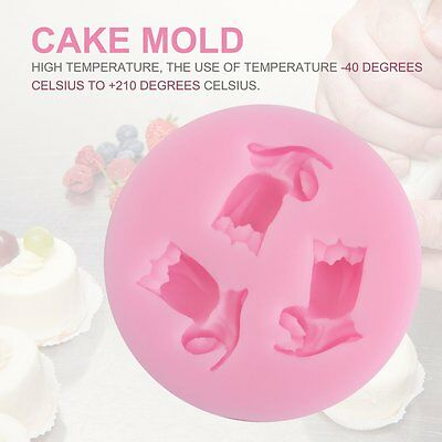 3D Morning Glory Shape Silicone Fondant Mould Cake Mold Chocolate Baking AU