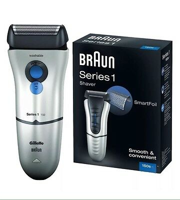 Braun Series 1 150S-1 Electric Rechargeable with Gilette Razor Smart Foil Shaver