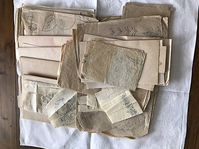 Vintage Embroidery Transfers,a Huge Lot,florals,toys,monograms Etc 1936 Onwards.
