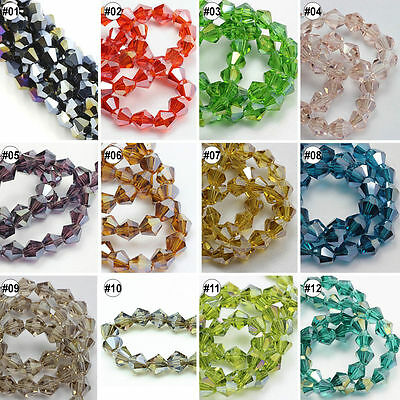 100/500pcs Mixed Plating Colour Synthetic Crystal Diamond Shpae Loose Beads