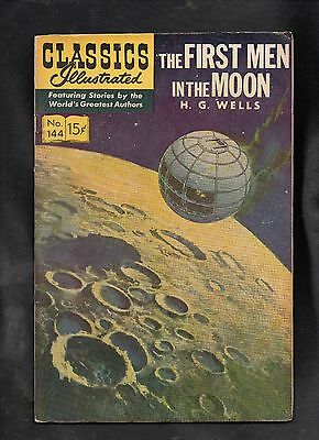 Classics Illustrated #144 Vg+   Hrn167 (The First Men In The Moon) H G Wells
