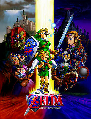 THE LEGEND OF ZELDA: OCARINA OF TIME Poster (A3: 29 x 38 cm)