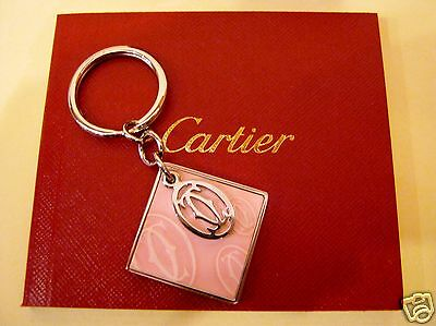"Cartier : Portachiavi Decoro ""happy Birthday"" Rosa Occasione"