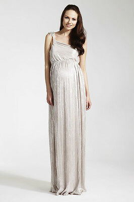 Rock-A-Bye Rosie Gabrielle Silver Maxi Maternity Dress. House Of Fraser Rrp £125