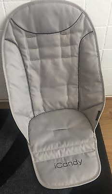 iCandy Peach 1 ,2 ,3 ,2016 Universal Seat Liner Padded Truffle 2 GREY