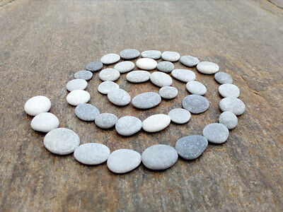 40 Small Round Stones - Flat Craft Pebbles Easy To Drill 5 - 10 mm
