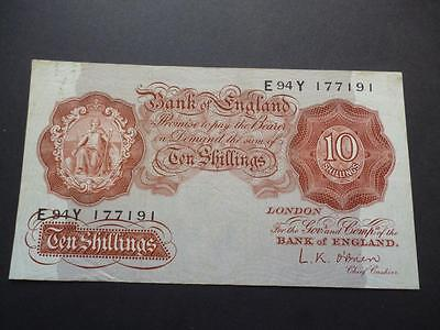 1955 L.k.o'brien Ten Shilling Note Good Used Condition, Duggleby Ref B271