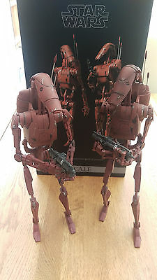 STAR WARS - SIDESHOW 1/6th SCALE GEONOSIS INFANTRY BATTLE DRIODS - MINT CONDITIO