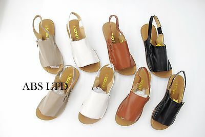 Womens Ladies Summer Menorcan Sandals Sling Back Flipflop Beach Dress Shoes Size