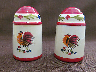 Salt and pepper shaker with Rooster AVON - Country style kitchen dining spices