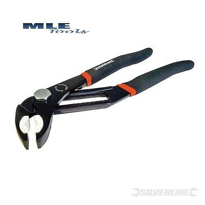 Silverline Quick Adjusting Soft Jaw Pliers 280mm long 65mm Jaw pipe tube 595757