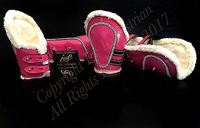 Bling Ice Leather Patent Tendon & Fetlock Boots. Different Colours and Sizes