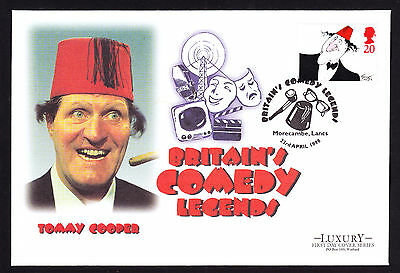 Tommy Cooper Fez Famous Comedian British Comedy Legend 1998 First Day Cover FDC