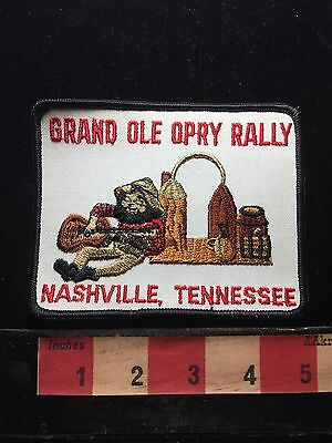 Country Music GRAND OLE OPRY RALLY Souvenir Nashville Tennessee Patch 73WU