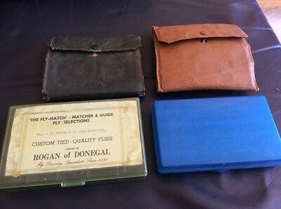 Group Of Fly Boxes Wallets, Hardy.