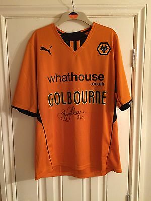Signed Scott Golbourne Wolverhampton Wanderers Shirt with COA