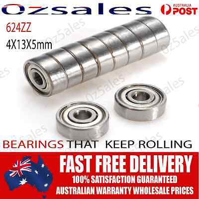 Oz Seller 624zz 4x13x5mm ball Bearings RepRap Prusa / Mendel / 3D Printer