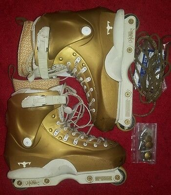 Usd Dominic Sagona gold *see description inline skates aggressive roller blades