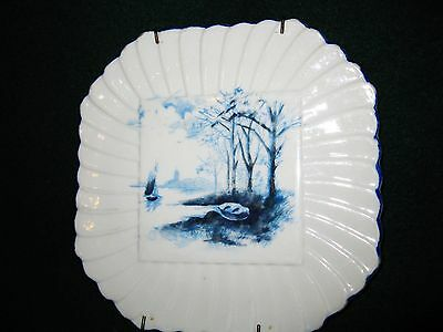 Blue And White Trivet Plate With Wall Hanger Austria Carlsbad BFHS China