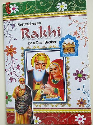Quality Raksha Bandhan card With Rakhi C18