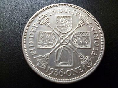 1936 Florin Coin King George The Fifth Very Fine Condition.