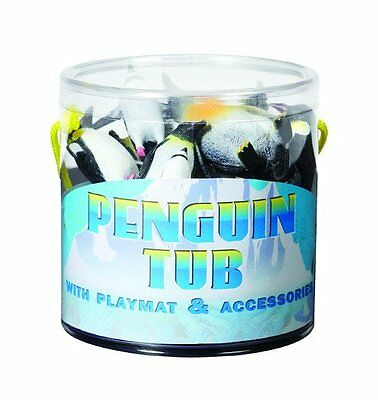 Penguin Tub of Figurines with Playmat