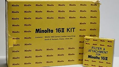 MINOLTA 16 II SPY CAMERA ROKKOR Filters Set ! NEW IN BOX Completely Collection !