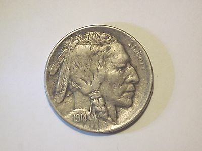 Circulated 1914 D Buffalo Nickel Uncertified Ungraded Business Strike Denver Min