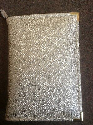 Genuine Pearl Embossed  leather bible cover for standard NWT (DLbi12-E)