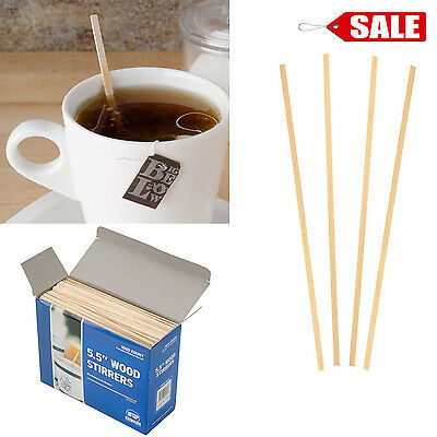 "5.5"" Coffee Stirrers Royal 1000 Count Wooden Craft Popsicle Stir Sticks Beverage"