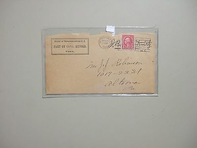 US HOUSE OF REPRESENTATIVES 1924 cover signed by Kurtz