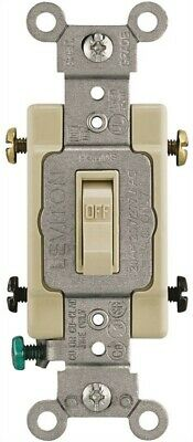Switch Toggle 20a Dp Ivory,No 013-54522-02I,  Leviton Mfg Co, 3PK