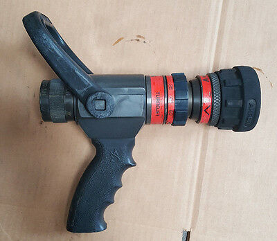 """AKRON TURBOJET 1702 Fire Nozzle 1"""" NH with Gallonage Selection 13-60 Turbo Jet"""