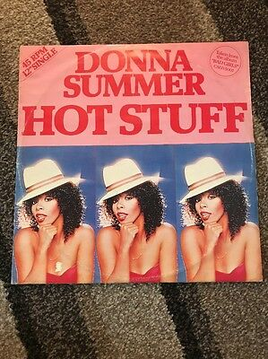 "Donna Summer - Hot Stuff 12"" Red Vinyl Single"