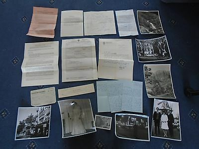 Collection of mixed ephemera inc death certificate Photos etc (a3)